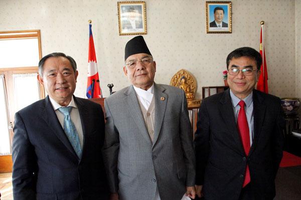 李若弘与尼泊尔副总理一行会谈