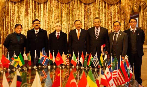 巴基斯坦驻华大使一行造访北京国际和平文化基金会
