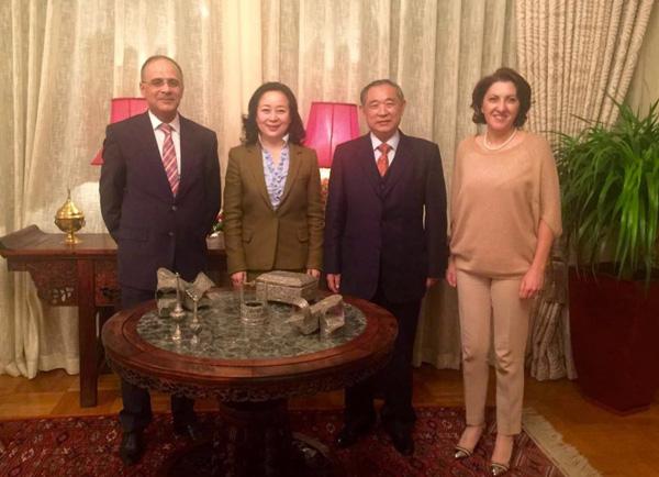 李若弘主席夫妇拜访突尼斯大使