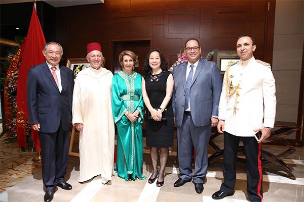 李若弘出席庆祝摩洛哥国王穆罕默德六世登基十九周年招待会