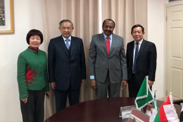 Dr. Li Ruohong Had Talks with Arab League Ambassador H. E. Mahmud H.Elamin