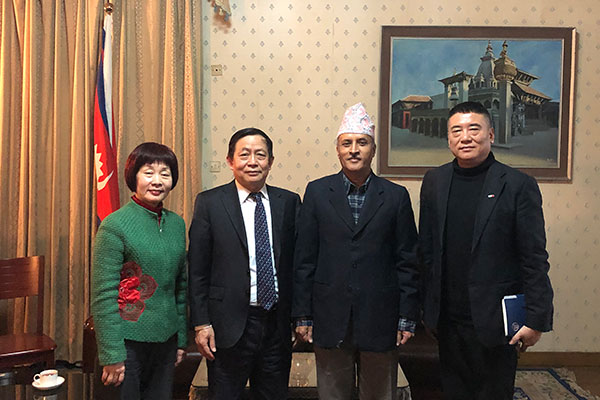 Secretary General Lu Qingcheng Held Talks with Nepali Ambassador H.E. Leela Mani Paudyal