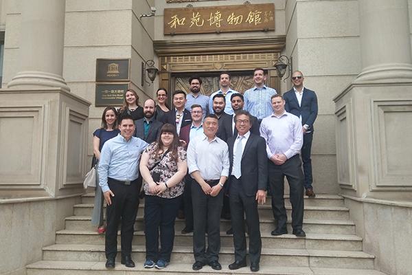加拿大研究生代表团来访和苑
