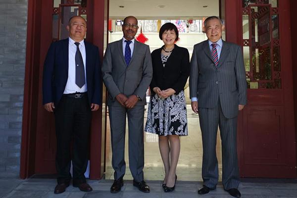 北京市友协领导与联合国教科文代表会谈