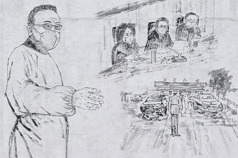 基金会理事吴世民先生为抗击新冠状病毒创作诗词书画作品