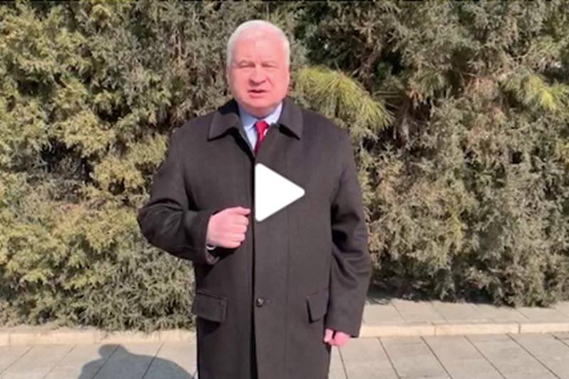"""""""武汉加油!中国加油!"""" 俄罗斯驻华大使杰尼索夫为武汉加油"""