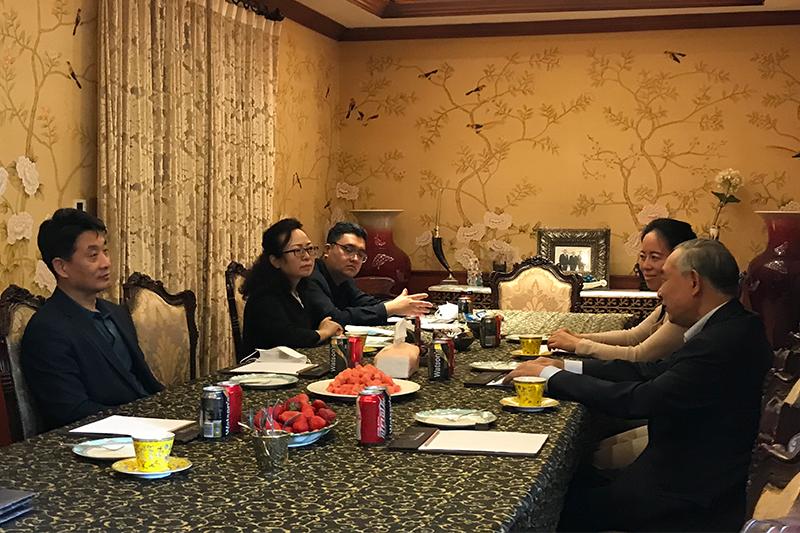 朝阳区文化和旅游局高春利局长携相关负责人来访和苑