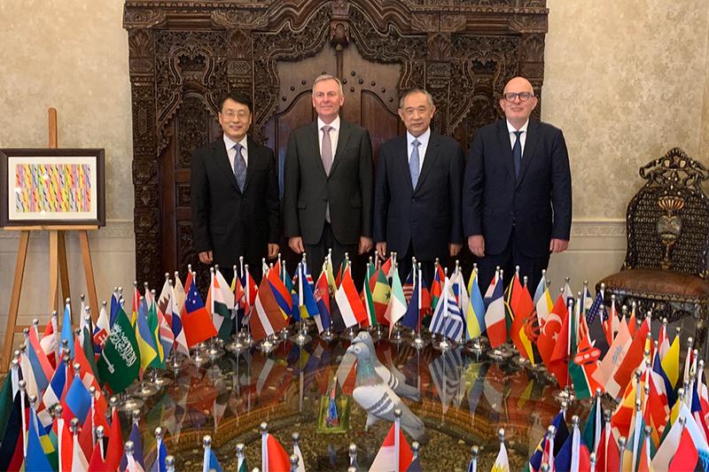 奥地利驻华大使一行访问和苑共议文化交流合作