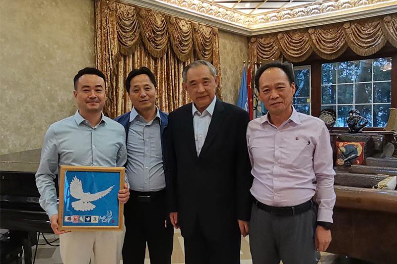 朝鲜驻华使馆文化参赞一行访问和苑博物馆