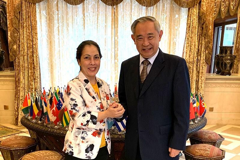 李若弘与古巴驻华公使一行就两国合作项目进行工作会谈